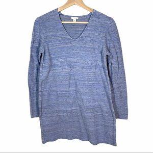 Pure Jill Blue Cotton/Linen Sweater Tunic- size S